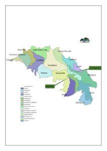 Mappa territorio Gal Monti Reventino