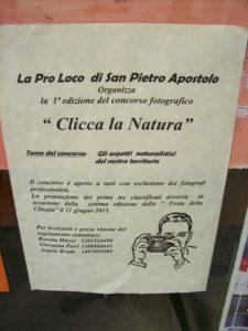 S. Pietro Apostolo concorso clicca natura