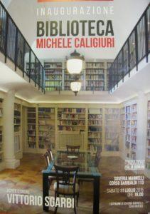 Sgarbi manifesto inaugura biblioteca 2015