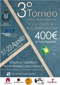 3 Torneo tennis club soveria mannelli manifesto