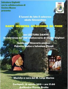 Carlopoli Dante incontra Gioacchino da Fiore