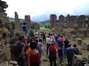 Abbazia di Corazzo Carlopoli gruppi in visita nell'estate 2015