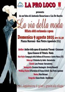 San Pietro Apostolo La via della moda agosto 2015 manifesto