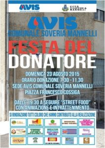 Soveria Mannelli Avis Festa del donatore 2015