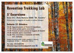 Reventino Trekking Lab 5 escursione 31 ottobre 2015