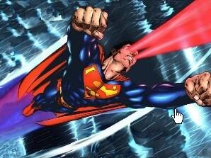 Superman volo raggi x