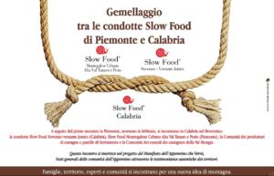 Serrastretta slow food programma gemellaggio nel Reventino