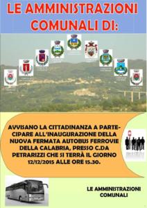 9 comuni inaugurazione fermata autobus Reventino Savuto