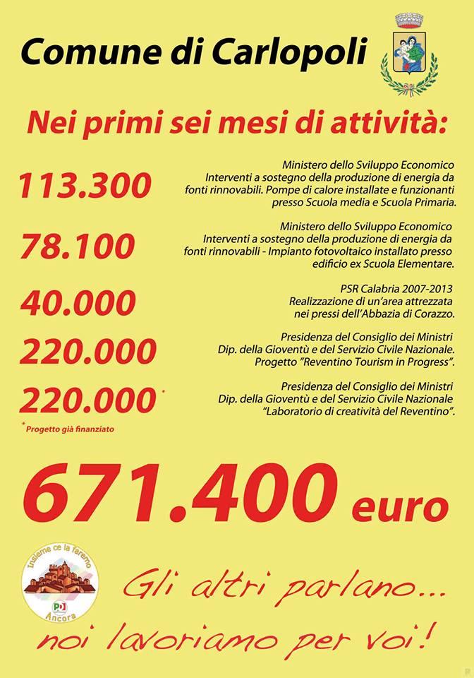 manifesto Carlopoli maggioranza