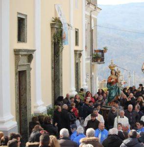Conflenti processione dal santuario piccola