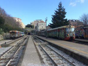 Automotrici Breda in partenza da Catanzaro per Soveria Mannelli.