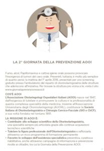 locandina prevenzione otorino