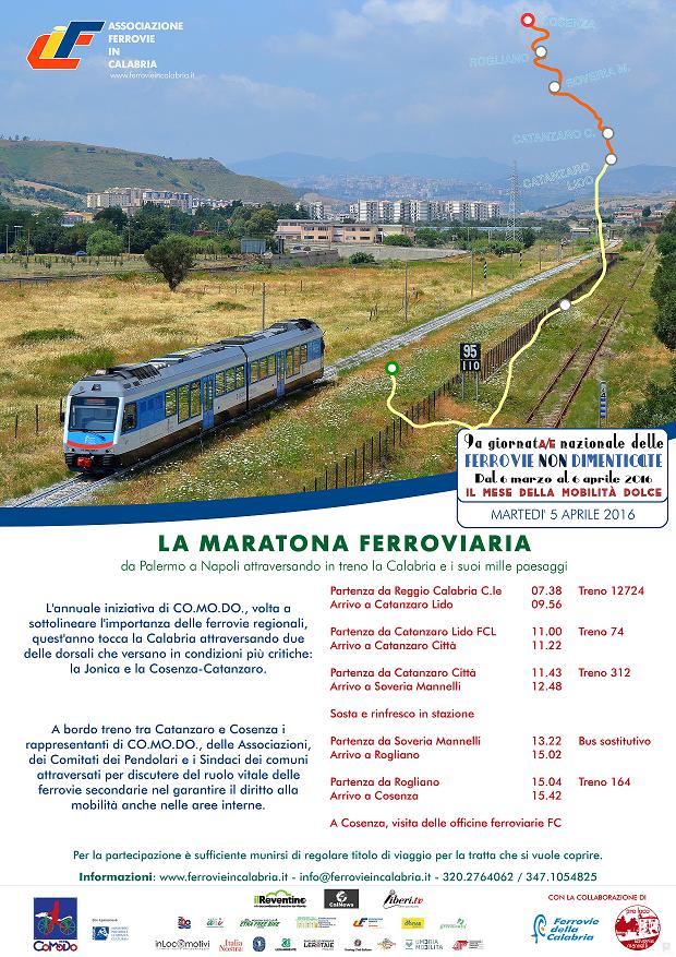 Maratona Ferroviaria locandina