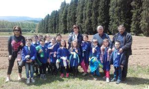 studenti in visita azienda agraria di Soveria Mannelli