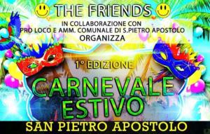 Carnevale estivo San Pietro Apostolo maifesto ritaglio